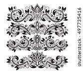 ornate decorative ornaments.... | Shutterstock .eps vector #497735416