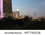 singapore at the night  2016 | Shutterstock . vector #497740528
