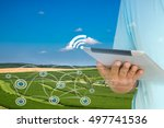 smart agriculture and internet... | Shutterstock . vector #497741536