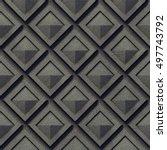 3d background  basalt blocks ... | Shutterstock . vector #497743792