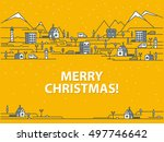 merry christmas greeting card... | Shutterstock .eps vector #497746642