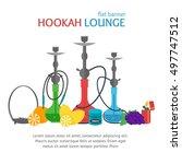 hookah lounge banner... | Shutterstock .eps vector #497747512