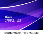 color abstract template for... | Shutterstock .eps vector #497753332