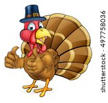 cartoon thanksgiving or... | Shutterstock .eps vector #497758036
