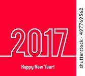 2017 happy new year vector... | Shutterstock .eps vector #497769562