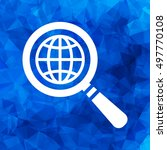 search icon of flat globe...