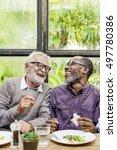senior men relax lifestyle... | Shutterstock . vector #497780386