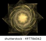 Particles Of Abstract Fractal...