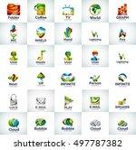 abstract business logo... | Shutterstock . vector #497787382