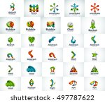 abstract business logo... | Shutterstock . vector #497787622