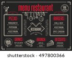 placemat menu restaurant food... | Shutterstock .eps vector #497800366
