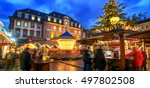 christmas market in heidelberg  ... | Shutterstock . vector #497802508