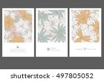 set of invitation cards with... | Shutterstock .eps vector #497805052