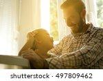 little girl spending time with... | Shutterstock . vector #497809462