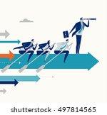 teamwork. business concept... | Shutterstock .eps vector #497814565