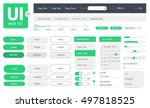 vector ui kit web template | Shutterstock .eps vector #497818525