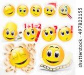 emoticon set | Shutterstock . vector #497822155