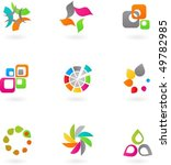 collection of abstract icons  ... | Shutterstock .eps vector #49782985