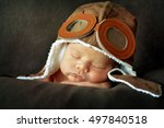sweet little baby dreaming of... | Shutterstock . vector #497840518