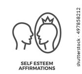 self esteem affirmations thin... | Shutterstock .eps vector #497858212