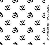 om symbol seamless pattern | Shutterstock .eps vector #497860282
