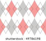 Pink And Grey Rhombus Seamless...