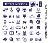 it technology icons | Shutterstock .eps vector #497862196