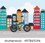bike and cycling related icons... | Shutterstock .eps vector #497865196