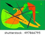 trapeze   an abstract version...   Shutterstock .eps vector #497866795