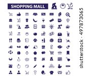 shopping mall icons | Shutterstock .eps vector #497873065
