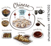 chinese food colorful... | Shutterstock .eps vector #497874202