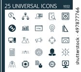 set of 25 universal icons on... | Shutterstock .eps vector #497877766