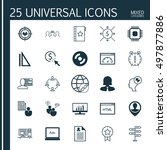 set of 25 universal icons on... | Shutterstock .eps vector #497877886