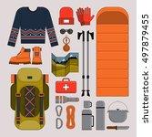 vector illustration on the... | Shutterstock .eps vector #497879455