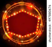 abstract shining retro light... | Shutterstock .eps vector #497880676