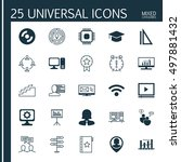 set of 25 universal icons on... | Shutterstock .eps vector #497881432