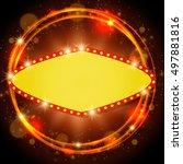 abstract shining retro light... | Shutterstock .eps vector #497881816