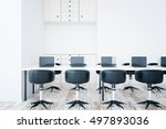 front view of interior with... | Shutterstock . vector #497893036