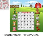 word search puzzle about farm... | Shutterstock . vector #497897026