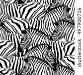 zebra seamless pattern.savannah ... | Shutterstock .eps vector #497900716