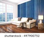 modern bright interior . 3d... | Shutterstock . vector #497900752