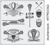 lacrosse club labels  emblems... | Shutterstock .eps vector #497901562