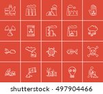 ecology sketch icon set for web ... | Shutterstock .eps vector #497904466