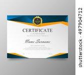 certificate template awards... | Shutterstock .eps vector #497904712