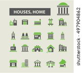houses  home icons   Shutterstock .eps vector #497904862