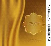 thai art vector background. | Shutterstock .eps vector #497905642