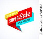super sale  special offer... | Shutterstock .eps vector #497906068