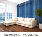 modern bright interior . 3d... | Shutterstock . vector #497906326