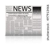 vector mock up newspaper... | Shutterstock .eps vector #497913466