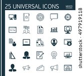 set of 25 universal icons on... | Shutterstock .eps vector #497919118